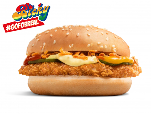 BICKY CRUNCHY CHICKEN BURGER (100% FILET DE POULET)